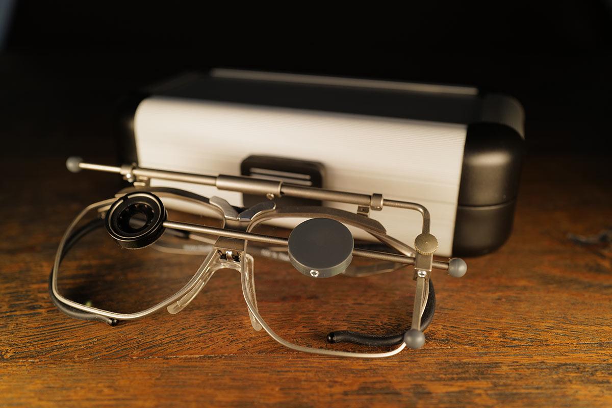 Schiessbrille mit Irisblende